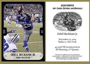 Odell Beckham Jr. 2014 Commemorative Catch ACEO Rookie RC Card New York Giants