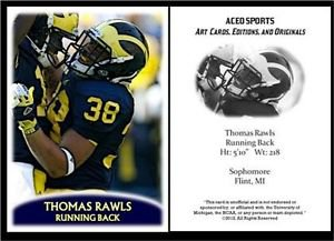 Thomas Rawls 2012 ACEO Sports Pre Rookie RC Card Seattle Seahawks Michigan