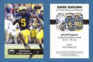 Jabrill Peppers NEW! 2016 ACEO Sports Football Card - Michigan Wolverines