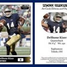 DeShone Kizer 2015 ACEO Sports Football Card - Notre Dame Fighting Irish QB