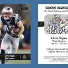Chris Hogan NEW! 2016 ACEO Sports Football Card New England Patriots