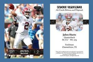 Jalen Hurts NEW! 2016 ACEO Sports Football Card - Alabama Crimson Tide - QB
