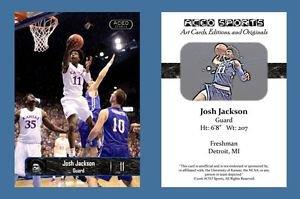 Josh Jackson NEW! 2016-17 ACEO Sports Basketball Card Kansas Jayhawks