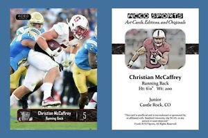 Christian McCaffrey NEW! 2016 ACEO Sports Football Card - Stanford Cardinal - RB