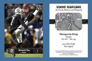 Marquette King NEW! 2016 ACEO Sports Football Card Oakland Raiders Punter