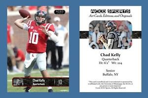 Chad Kelly NEW! 2016 ACEO Sports Football Card - Ole Miss Rebels - QB