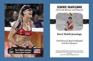 Kerri Walsh Jennings NEW ACEO Sports Card 2016 Rio Olympics USA Beach Volleyball