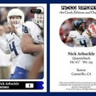 Nick Arbuckle 2015 ACEO Sports Football Card Georgia State Panthers - QB