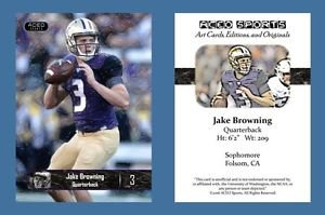Jake Browning NEW! 2016 ACEO Sports Football Card - Washington Huskies - QB