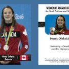 Penny Oleksiak NEW! ACEO Sports Card 2016 Rio Olympics Canada Swimming