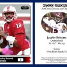 Jacoby Brissett 2015 ACEO Sports Football Card Pre Rookie RC Patriots NC State