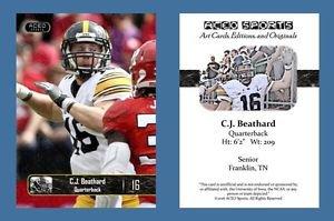 C.J. CJ Beathard NEW! 2016 ACEO Sports Football Card - Iowa Hawkeyes - QB