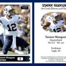 Tanner Mangum 2015 ACEO Sports Football Card - BYU Cougars - QB