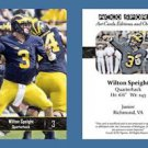 Wilton Speight NEW! 2016 ACEO Sports Football Card - Michigan Wolverines - QB