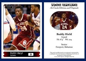 Buddy Hield 2015-16 ACEO Sports Basketball Card Oklahoma Sooners