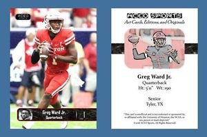 Greg Ward Jr NEW! 2016 ACEO Sports Football Card - Houston Cougars - QB