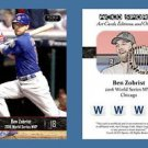 Ben Zobrist NEW 2016 ACEO Sports Chicago Cubs World Series MVP Commemorative