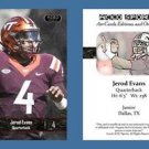Jerod Evans NEW! 2016 ACEO Sports Football Card - Virginia Tech Hokies - QB