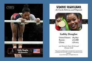 Gabby Douglas NEW! ACEO Sports Card 2016 Olympics Team Gold - Final Five