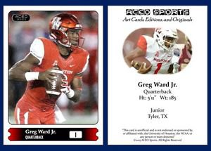 Greg Ward Jr. 2015 ACEO Sports Football Card Houston Cougars - QB