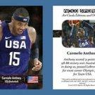 Carmelo Anthony NEW! ACEO Sports Card 2016 Rio Olympics USA Basketball