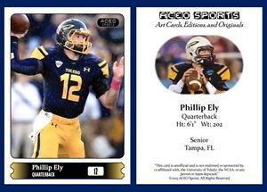 Phillip Ely 2015 ACEO Sports Football Card - Toledo Rockets - QB