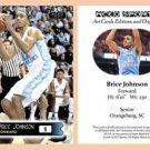 Brice Johnson 2015-16 ACEO Sports Basketball Card North Carolina UNC