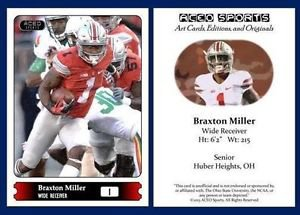 Braxton Miller 2015 ACEO Sports Football Card Pre Rookie RC Houston Texans OSU