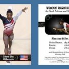 Simone Biles NEW! ACEO Sports Card 2016 Olympics Team Gold - Final Five