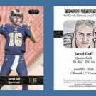 Jared Goff NEW! 2016 ACEO Sports Card RC Rookie Los Angeles Rams California