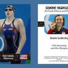 Katie Ledecky NEW! ACEO Sports Card 2016 Rio Olympics USA Swimming