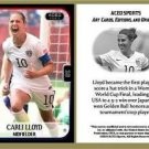 Carli Lloyd 2015 Commemorative Women's World Cup ACEO Soccer Card! USA