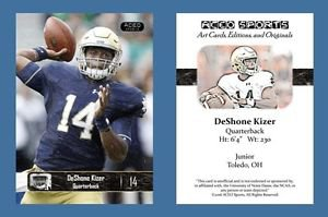 DeShone Kizer NEW! 2016 ACEO Sports Football Card - Notre Dame Fighting Irish QB