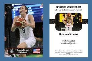 Breanna Stewart NEW! ACEO Sports Card 2016 Rio Olympics USA Basketball UCONN