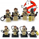 Ghostbusters set of 4 minifigures Lego compatible, Peter Venkman, Winston Zeddmore, Egon Spengler