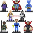 Custom set of 8 minifigures Lego compatible, Doctor Strange, Beast, Baron Mordo Karl,