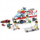 City Rescue Hospital Ambulance Motorcycle Accident Doctor Lego Compatible Toy