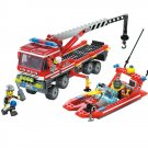 Rescue Fire Fighter Engine Truck Speed Boat Station Lego Compatible