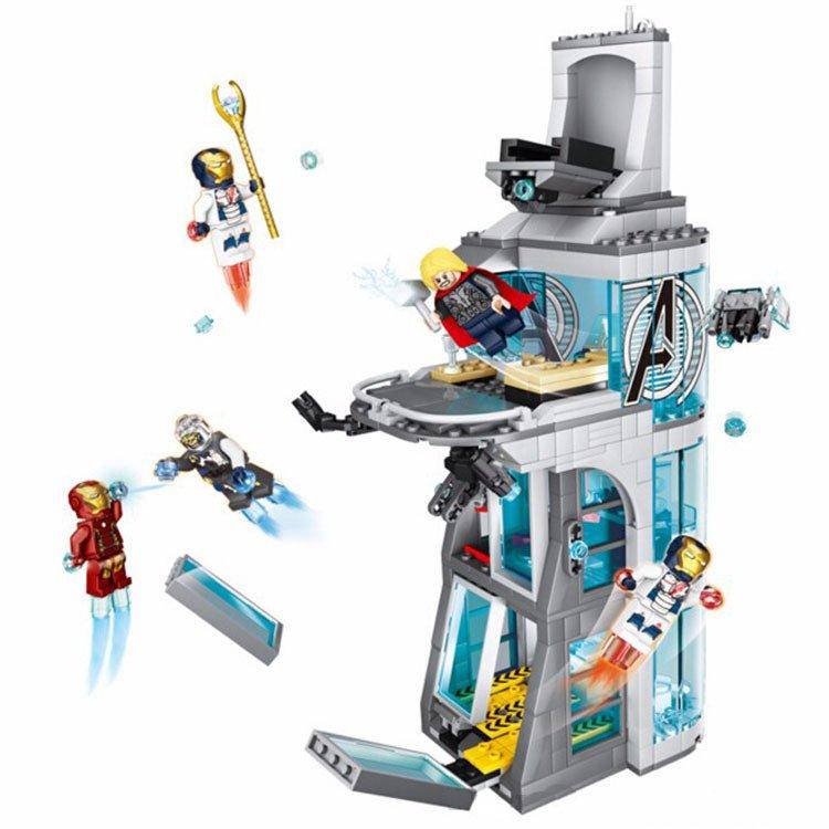 Lego Compatible Toy Bricks Marvel Avengers Tower Ironman Thor Legion