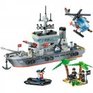 Army Navy Battleship Vessel Ship Missile Soldier Lego Compatible Military Toy