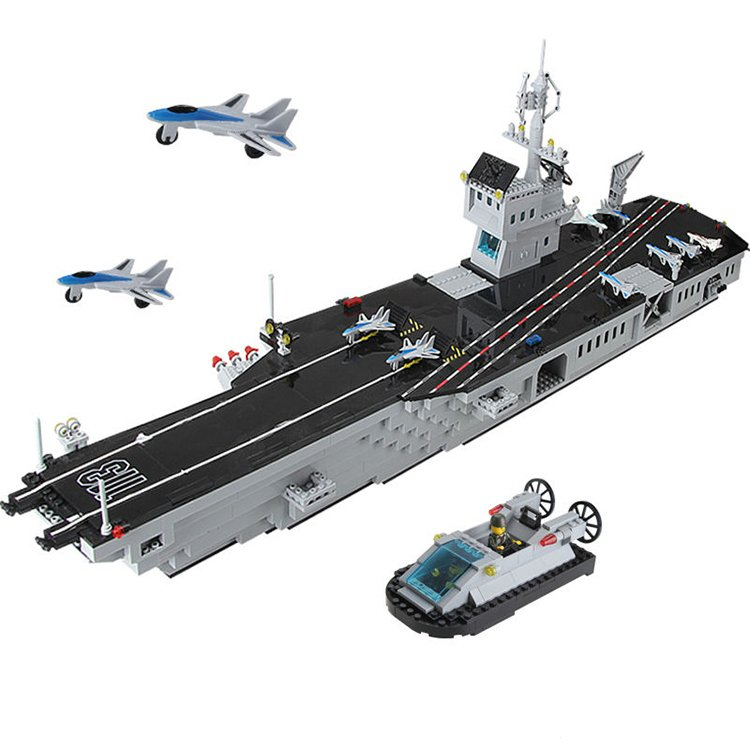 Lego Compatible Military Navy Aircraft Carrier Fighter Jet Plane War