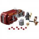 Star Wars Jedi Force Awaken Rey Speeder Unkar Minifigure Lego Compatible Toy