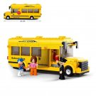 Sluban 0507 City School Bus Student Passenger Vehicle Figure Lego Compatible Toy
