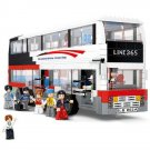 Lego Compatible Sluban B0335 City Passenger Double Deck Transport Public Bus