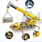 Lego Compatible Kazi City Road Building Construction Crane Lift Vehicle