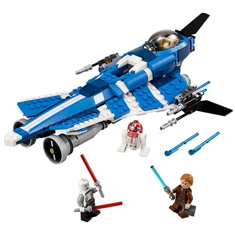 Lego Compatible Star Wars Jedi Anakin Skywalker Custom Starfighter Jet Asajj