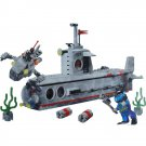 Lego Compatible Military Toy Navy Army War Submarine Ship Torpedo Sailor