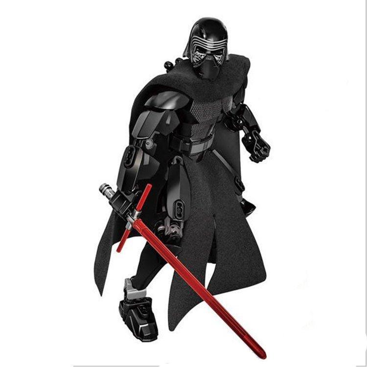 Lego Star Wars Kylo Ren Jedi Warrior Lightsaber Action Figure Compatible