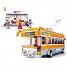 Electric Rail Bus Car Stop Station Passenger Terminal Lego Compatible Toy