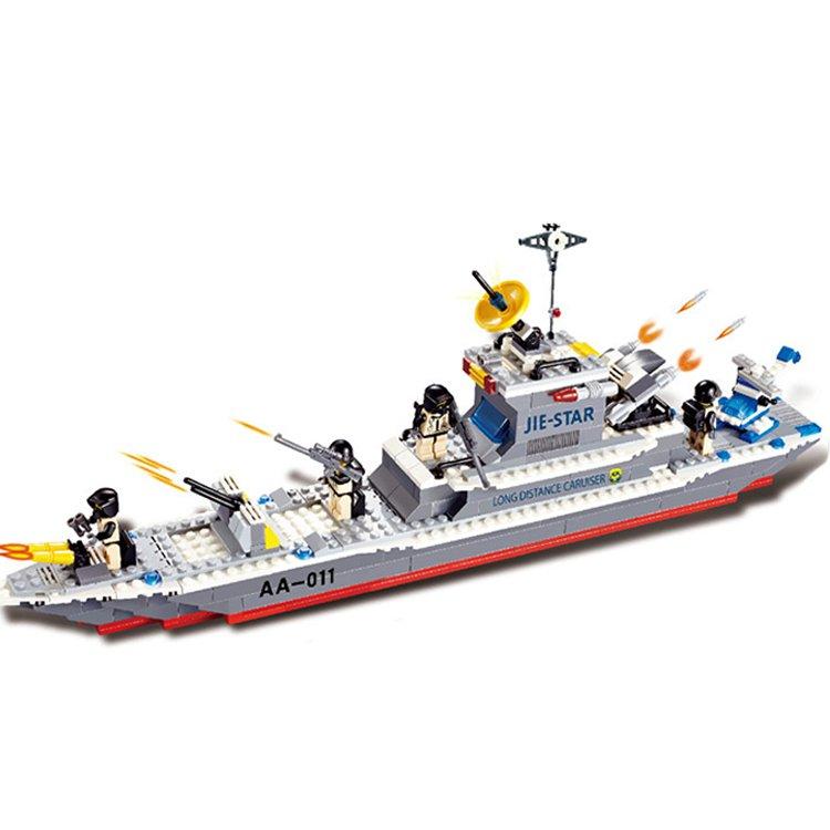 Navy Battleship Cruiser Vessel Missile Ship Lego Compatible Toy